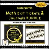 Kindergarten Math Exit Tickets & Journals All Year (Math i