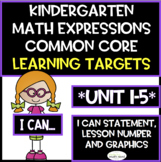 Kindergarten Math Expressions Common Core Learning Targets (**COMPLETE**)