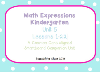 Kindergarten Math Expressions Companion for Unit 5