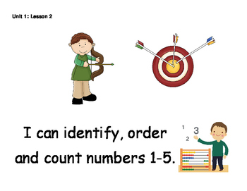 Kindergarten Math Expressions - Learning Targets