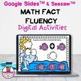 Kindergarten Math Fact Fluency Addition Google Slides & Seesaw Distance Learning