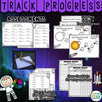 Kindergarten Math Facts Practice Bundle for Fluency - Facts within 5 & 10