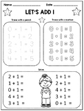 Kindergarten Math Facts Fluency Worksheets: Addition and Subtraction to 5