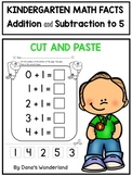 Math Facts Fluency Kindergarten: Cut and Paste