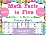 Kindergarten Math Facts to Five: Fluency Cards for Kindergarten