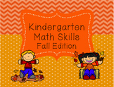 Kindergarten Math Fall Edition