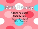 Kindergarten Math Fluency