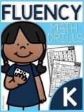 Kindergarten Math Fluency Drills