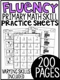 Kindergarten Math Fluency Sheets