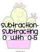 Kindergarten Math Fluency Subtraction 0-10 BUNDLE (N.MR.00.09/K.OA.A.2)
