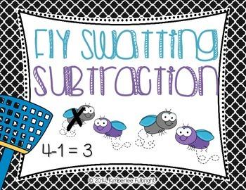 Kindergarten Math ~ Fly Swatting Subtraction