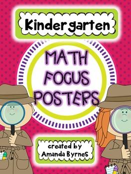 Kindergarten Math Focus Vocabulary Posters