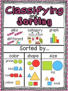Kindergarten Math Focus Vocabulary Posters (Color)
