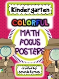 Kindergarten Math Focus Vocabulary Posters (Color)