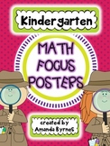 Kindergarten Math Focus Vocabulary Posters