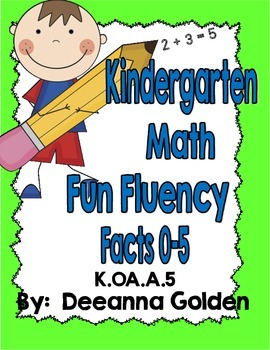 Kindergarten Math Fun Fluency Facts 0-5