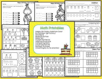 Kindergarten Math Games, Printables and Problem Solving