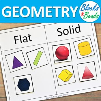 Kindergarten Math Game: Flat & Solid Shape Sort