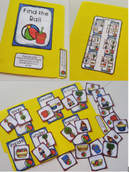 Kindergarten Math File Folder Games