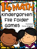 Kindergarten Math File Folder Games