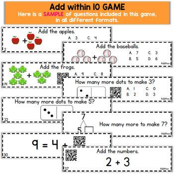 Kindergarten Math Games Kindergarten Math Centers | I CAN Math Games BUNDLE