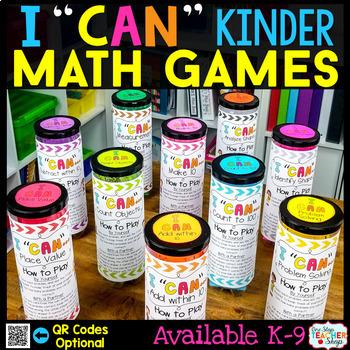 Kindergarten Math Centers   Kindergarten Math Games BUNDLE