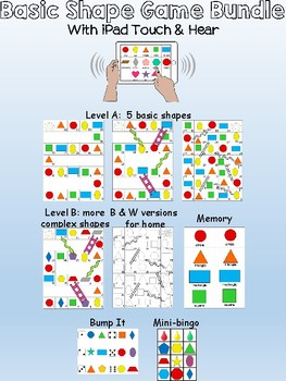 Kindergarten Math Games - Basic Shapes - With Touch & Hear App!