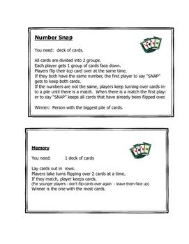 Kindergarten Math Games - Open House