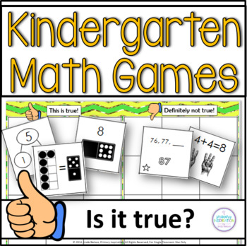 Kindergarten Math Games ~ Thumbs Up or Thumbs Down?