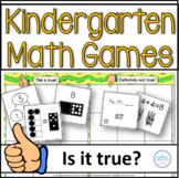 Kindergarten Math Spiral Review Games