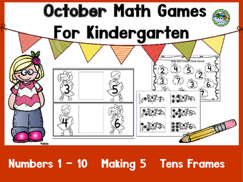 Kindergarten Math Games All Year Long BUNDLE!!