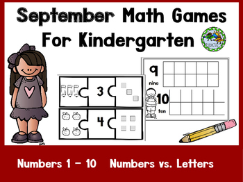 Kindergarten Math Games All Year Long BUNDLE!!