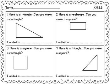 Kindergarten Math {Geometry}