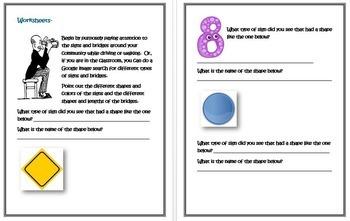 Kindergarten Common Core Geometry-Bridges and Road Signs