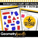 Kindergarten Math | Geometry Bundle