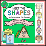 Kindergarten Math Geometry - Introducing 2D Shapes Tab Booklet + Posters