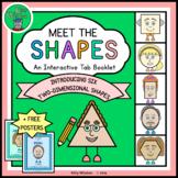 Kindergarten Math Geometry - Introducing 2D Shapes Tab Boo