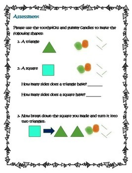 Kindergarten Common Core Math Geometry-Playing with Shapes