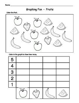 Kindergarten Math Graphs  -  Fun & Easy Graph Worksheets