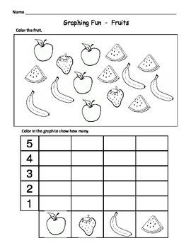 Kindergarten Math Graphs - Fun & Easy Graph Worksheets