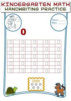 Kindergarten Math - HANDWRITING PRACTICE WORKSHEETS