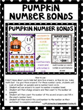 Kindergarten Math Halloween Centers