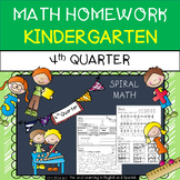 Kindergarten Math Homework - 4th Quarter