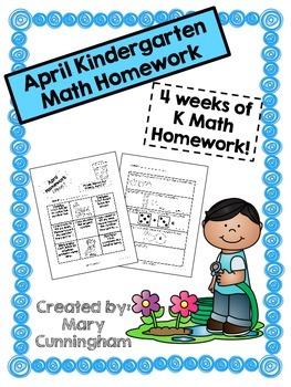 Kindergarten Math Homework {April}