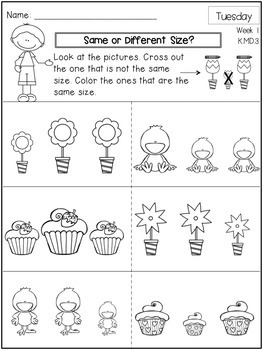 Kindergarten Math Homework - Free Sample