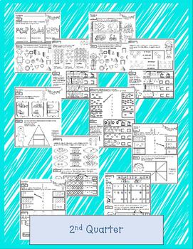 Kindergarten Math Homework - IN SPANISH - WHOLE YEAR