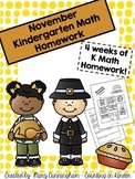 Kindergarten Math Homework {November}