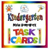 Kindergarten Math Task Cards | Kindergarten Math Homework Task Cards