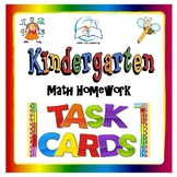 Kindergarten Math Task Cards | Kindergarten Math Homework