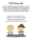 Kindergarten Math Homework Tens/Ones Blocks Dominos Tens Frames